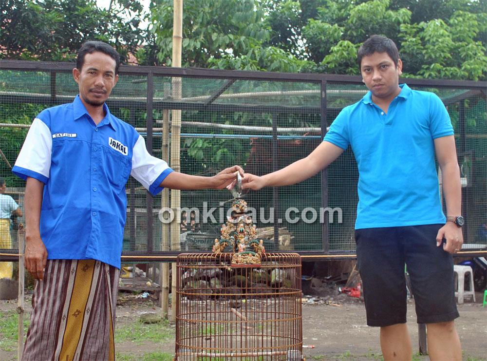 Safiri (kiri) dan Angga siap bawa kacer Sakral ke Piala Raja Jogja, 9 Juni 2013.