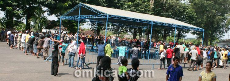 Suasana lomba Pangeran Samber Nyowo di halaman GOR Giri Mandala, Wonogiri, Minggu (12/5).