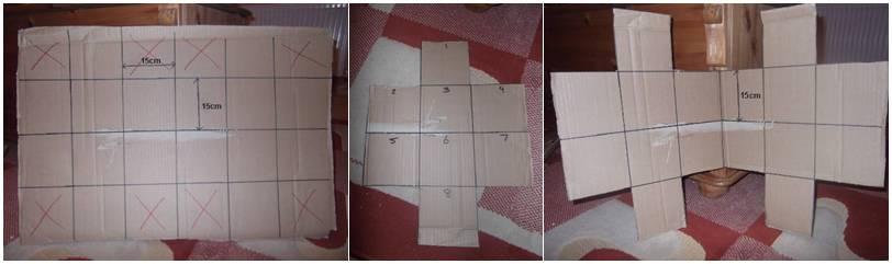 Gunting sesuai pola dan seusai dengan nomor yang ditunjukan dalam gambar