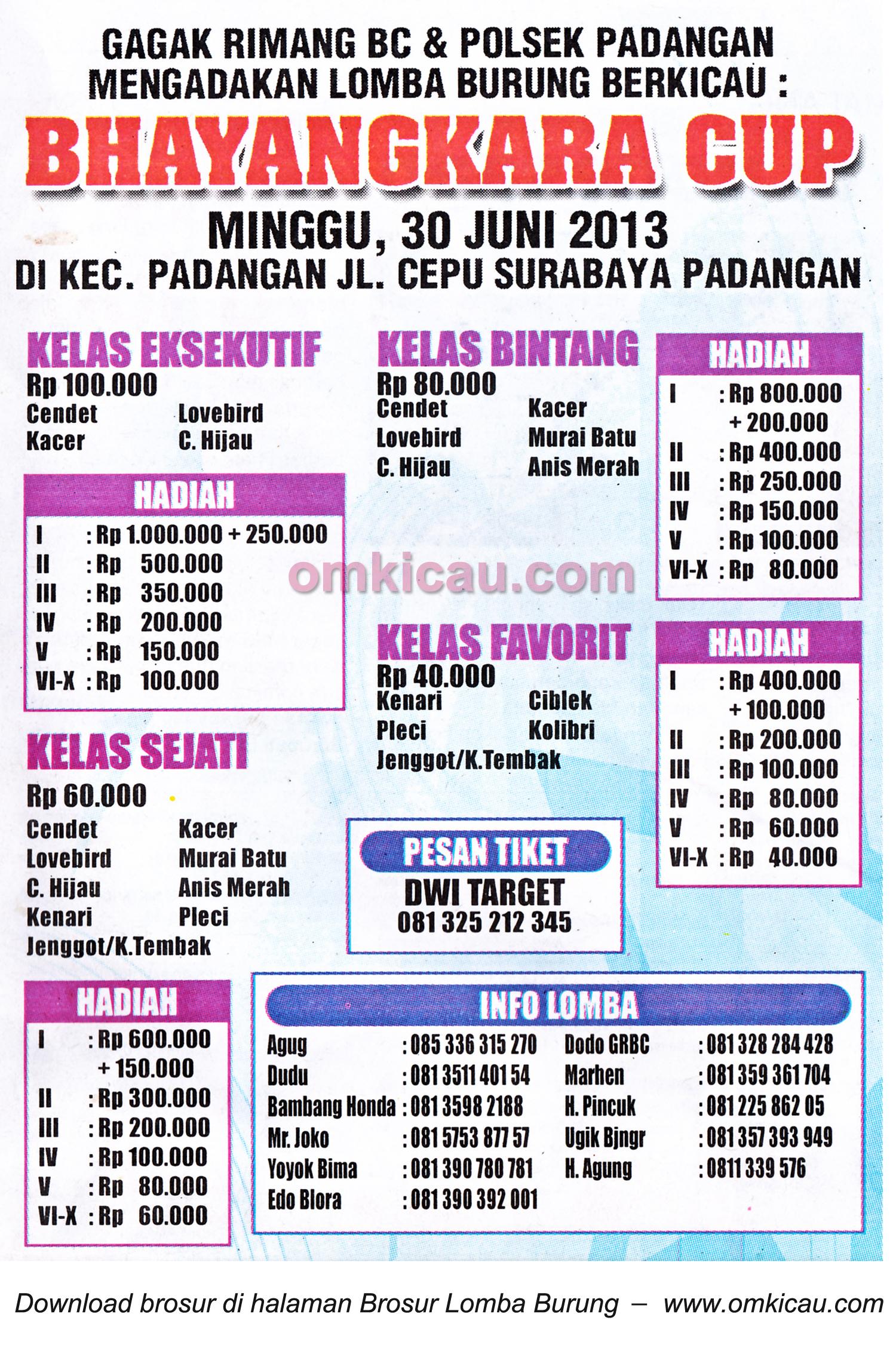 Brosur Lomba Bhayangkara Cup Padangan Bojonegoro 30 Juni 2013