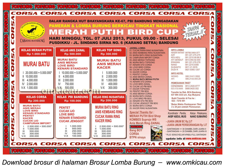 BROSUR MERAH PUTIH BIRD CUP 7 Juli, revisi