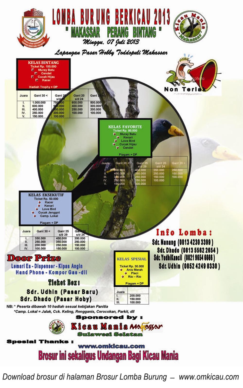 Lomba Burung di Makassar