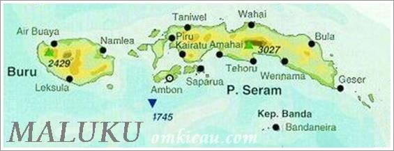 Pulau Seram yang terletak di Maluku Tengah