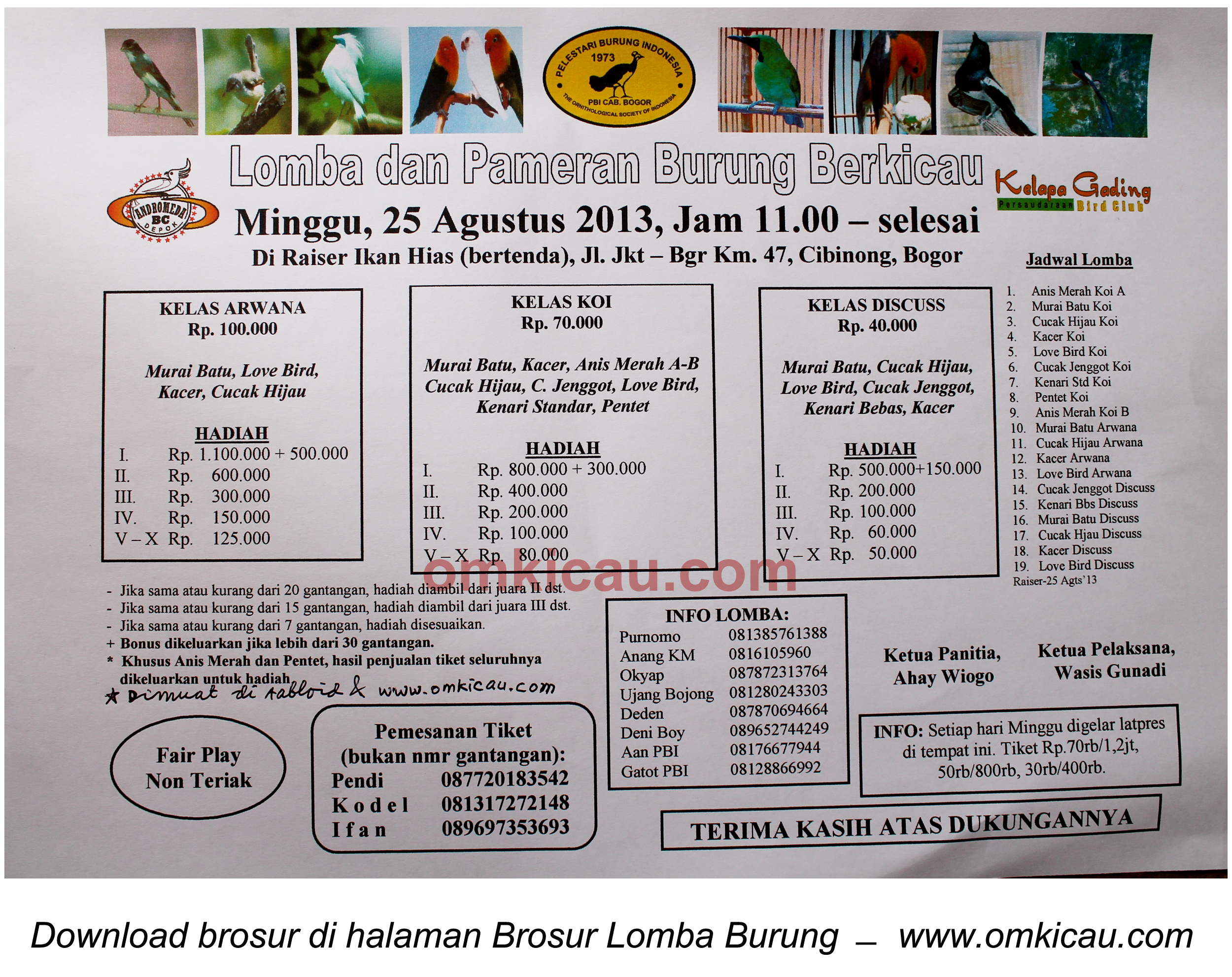 Brosur Lomba Andromeda BC 25 Agustus 2013