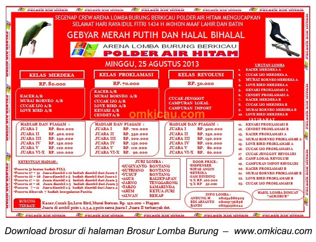 Brosur Lomba Gebyar Merah Putih - Halal Bihalal Samarinda, 25 Agustus 2013