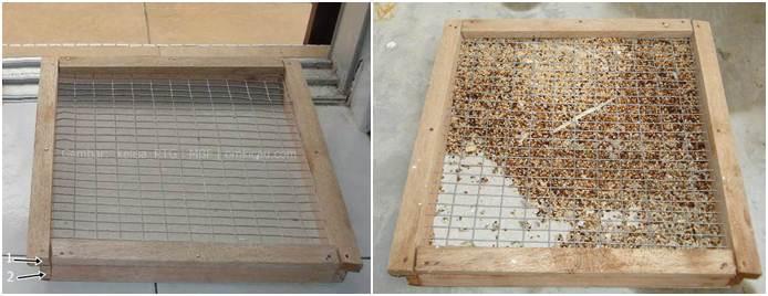 Tempat untuk pembuangan sisa dan sampah dari makanan yang sudah dimakan oleh burung