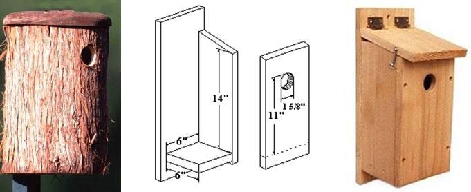Kotak sarang yang bisa digunakan dalam menangkarkan pelatuk bawang