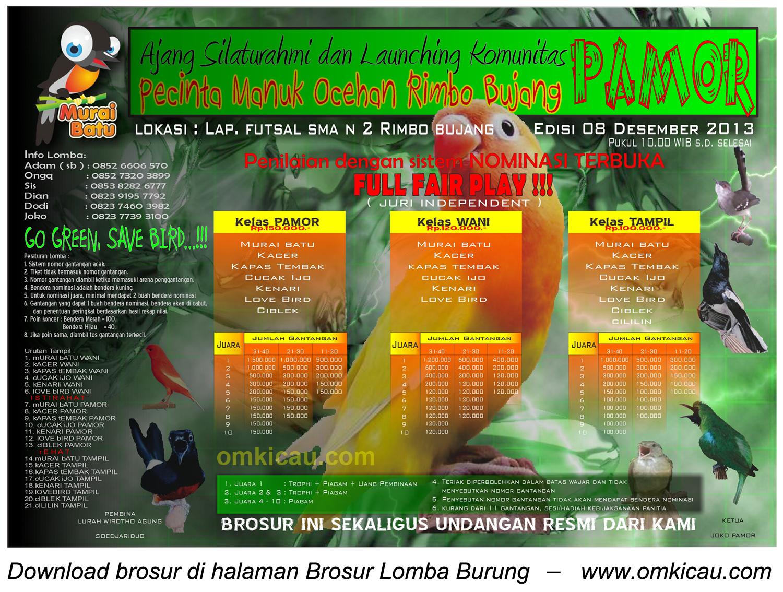 Launching PAMOR Rimbo Bujang, 8 Desember 2013
