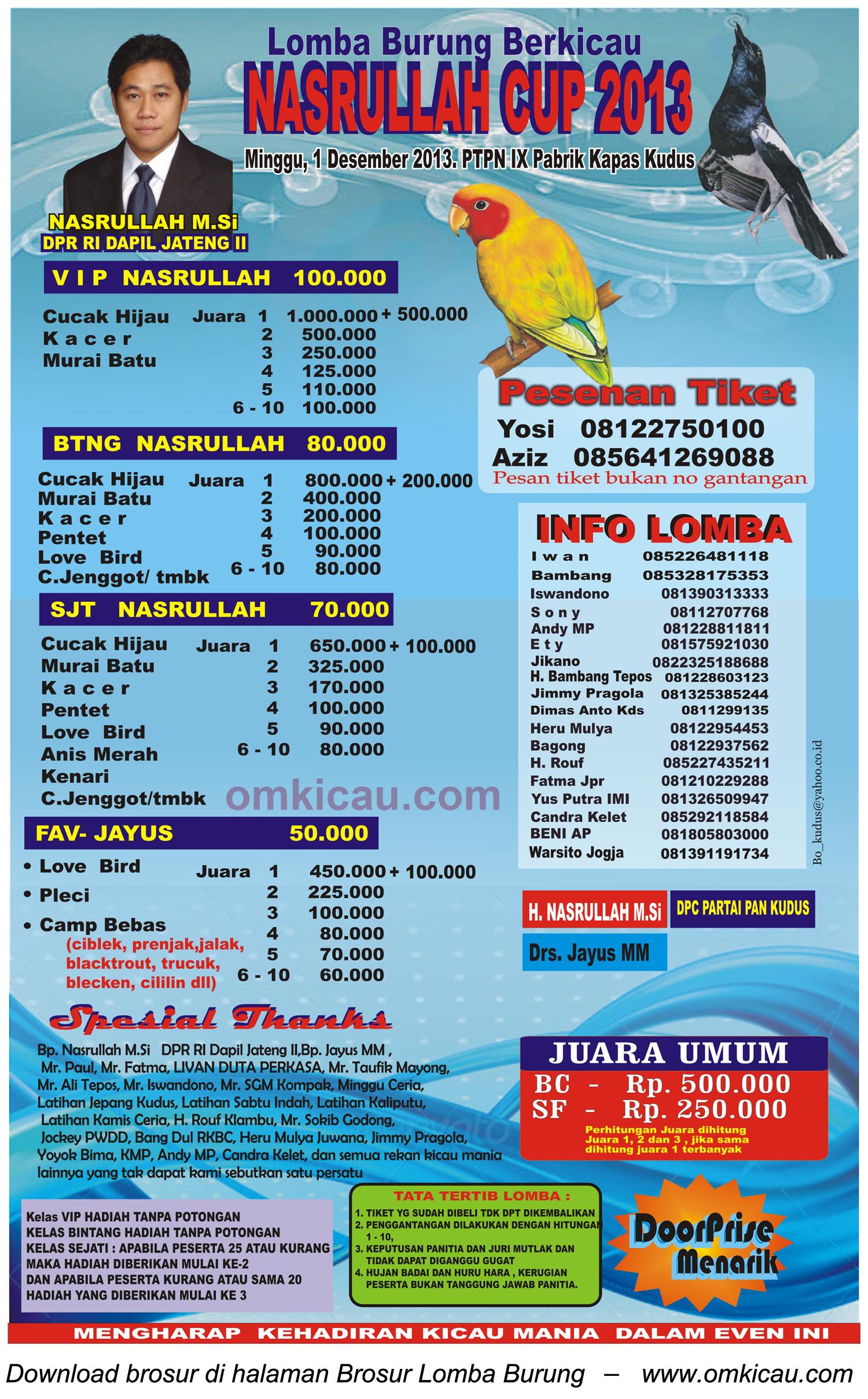 Nasrullah Cup Kudus - 1 Desember 2013