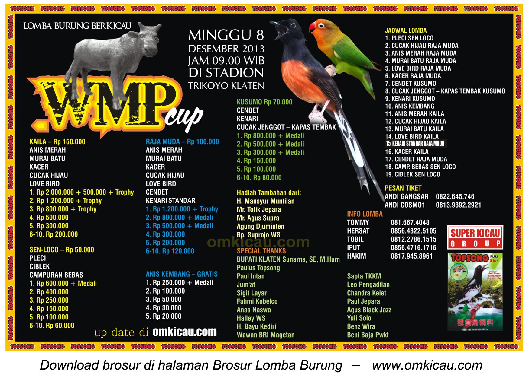 Brosur Lomba WMP Cup Klaten