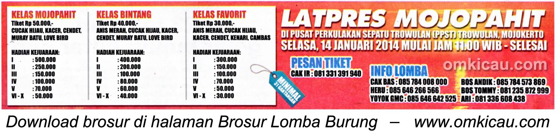 Brosur Latpres Mojopahit, Mojokerto, 14 Januari 2014