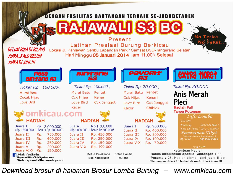 Brosur Latpres Rajawali S3 BC, BSD-Tangsel, 5 Januari 2014