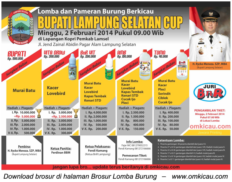 Brosur Bupati Lampung Selatan Cup