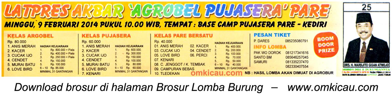 Brosur Latpres Akbar Agrobel Pujasera Pare, Kediri, 9 Februari 2014