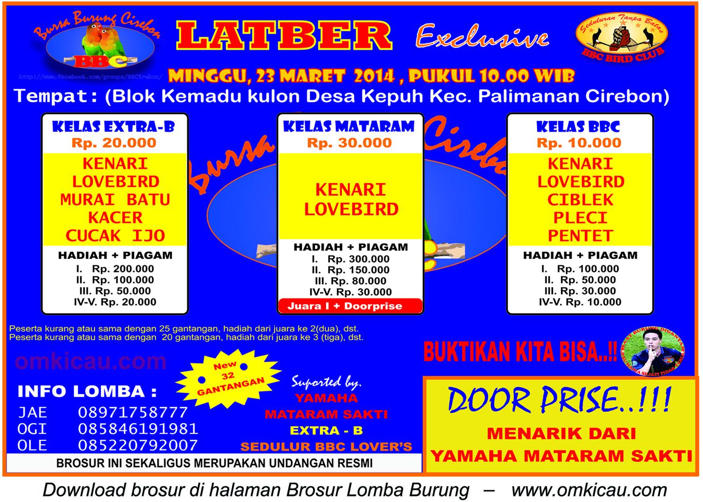 Brosur Latber Exclusive BBC, Cirebon, 23 Maret 2014