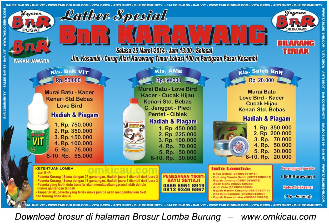 Brosur Latber Spesial BnR Karawang, 25 Maret 2014