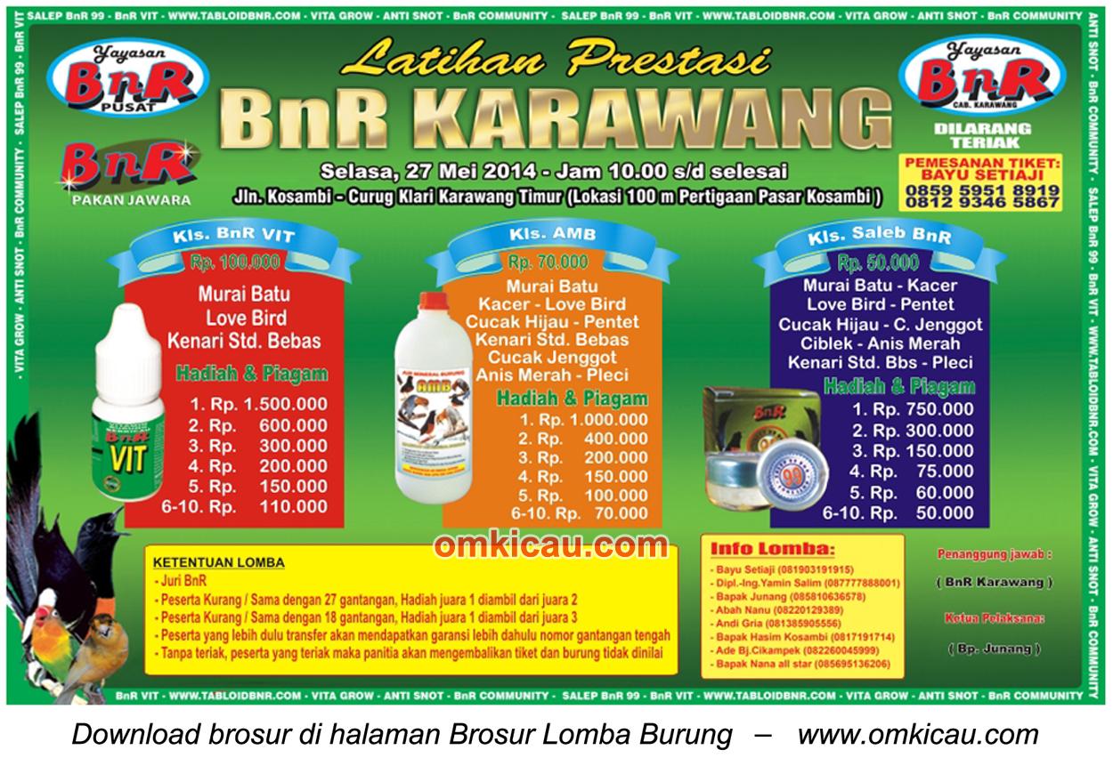 Brosur Latpres BnR Karawang, Selasa - 27 Mei 2014