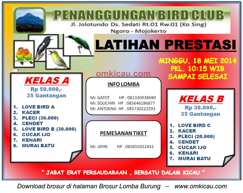 Brosur Latpres Penanggungan BC, Mojokerto, 18 Mei 2014