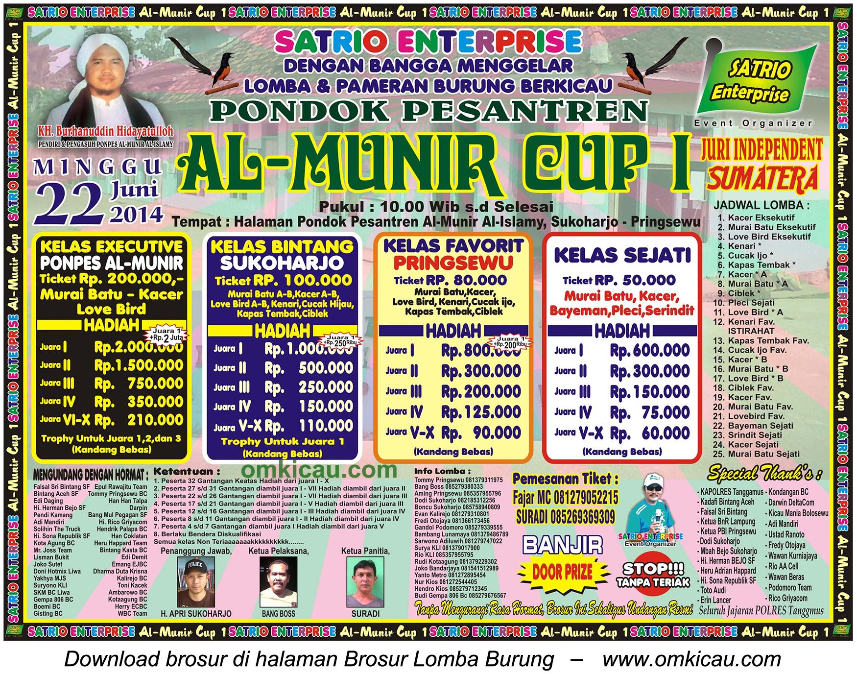 Lomba Burung Al Munir Cup 1, Pringsewu, 22 Juni 2014