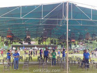 Suasana lomba pleci di Balikpapan