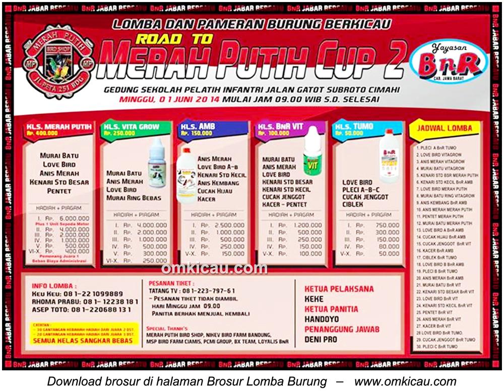 Lomba Burung Berkicau Road to Merah Putih Cup 2, Cimahi, 1 Juni 2014
