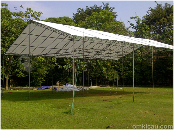 Tenda built-up gantangan baru Arcici
