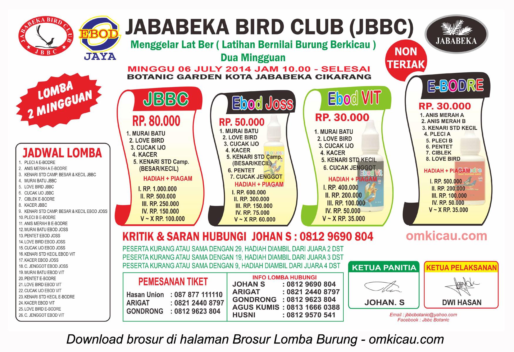 Latber Jababeka Bird Club Cikarang 6 Juli 2014