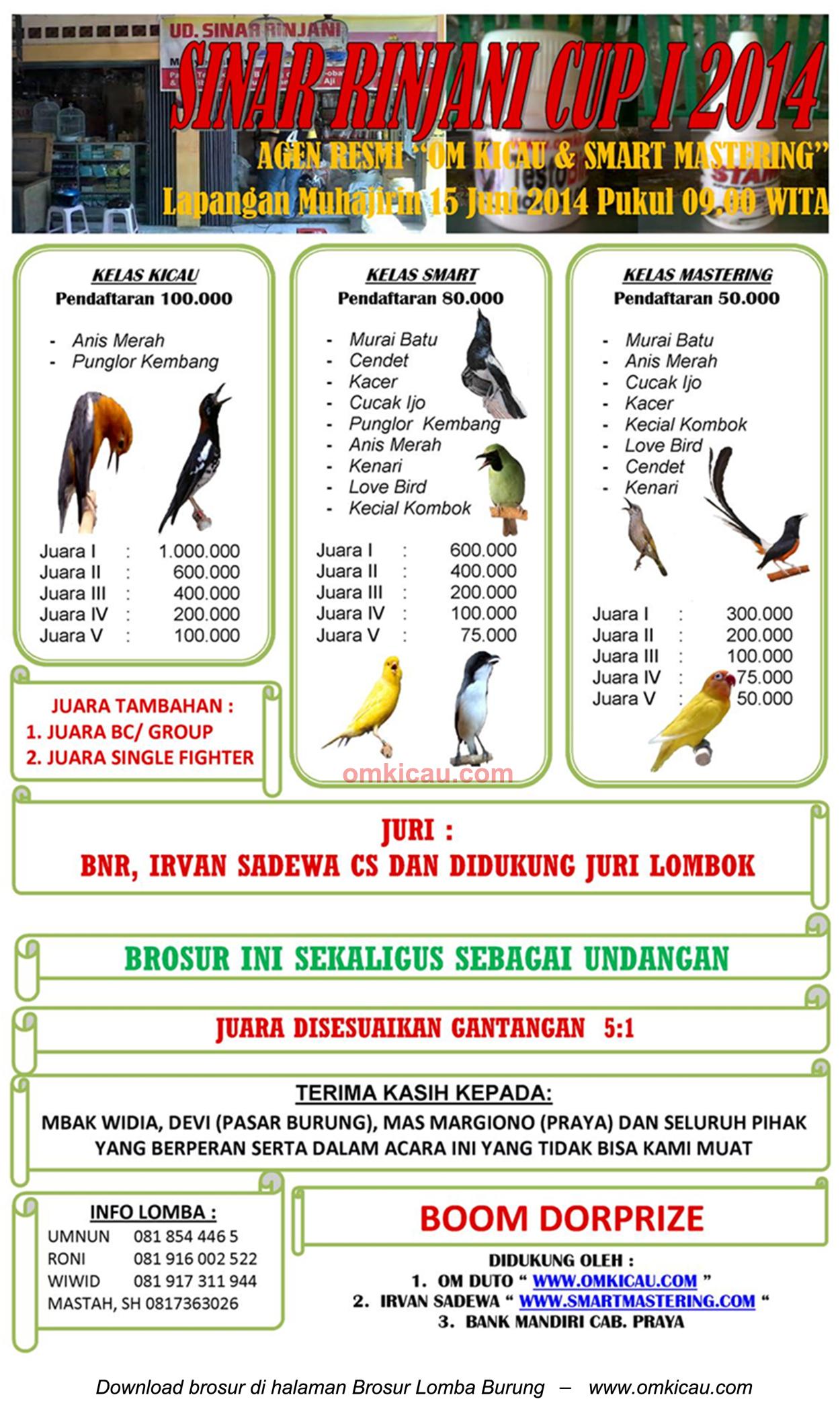 Lomba Burung Sinar Rinjani Cup I