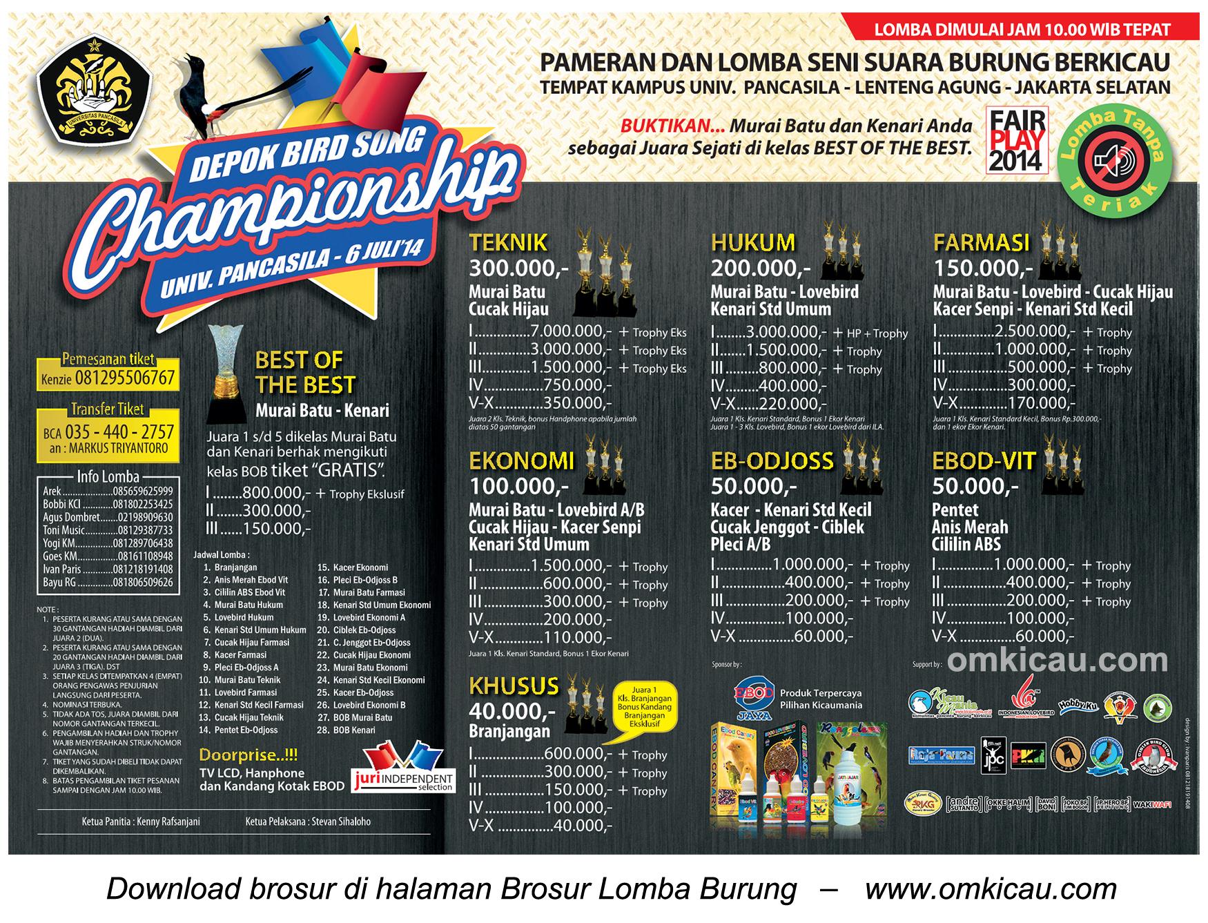 Depok Bird Song Championship 6 Juli 2014