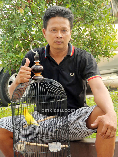 Mr Duwo dan lovebird Goldish