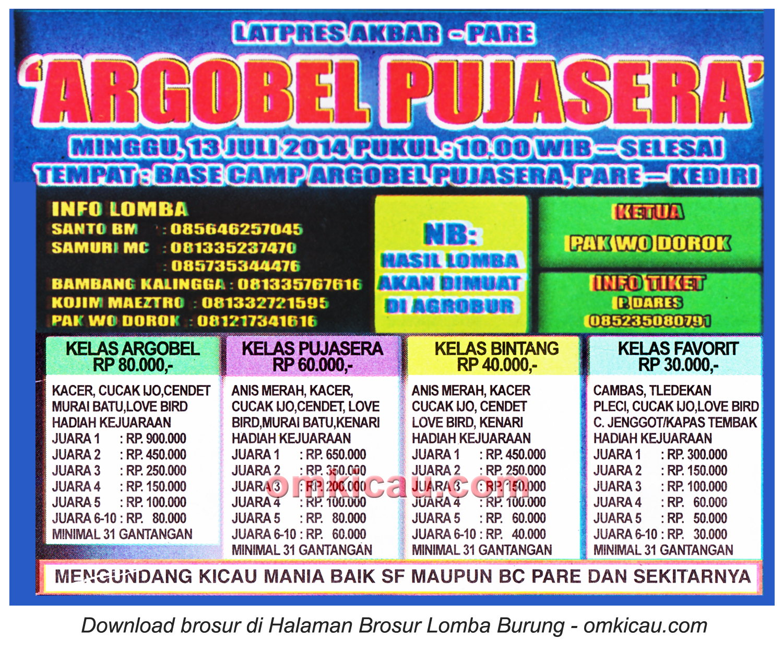 Brosur Latpres Akbar Argobel Pujasera, Pare-Kediri, 13 Juli 2014