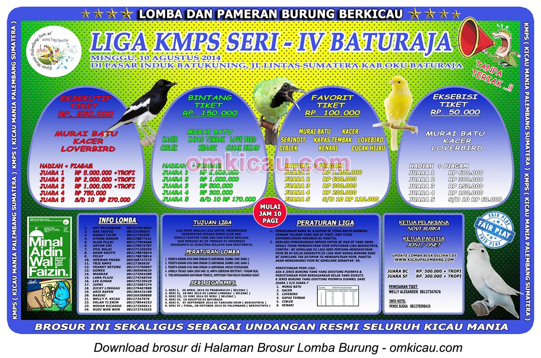 Brosur Liga KMPS Seri IV, Baturaja, 10 Agustus 2014