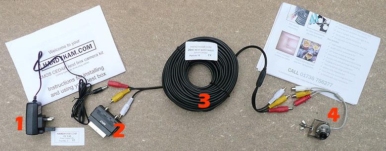 Satu set perlengkapan yang dibutuhkan untuk memantau kotak sarang