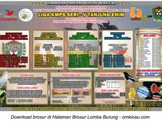 Brosur Lomba Burung Berkicau Liga KMPS Seri V, Tanjung Enim, 7 September 2014