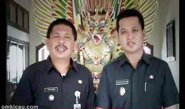 Bupati Jembrana I Putu Artha SE dan Wakil Bupati Made Kembang Hartawan SE MM