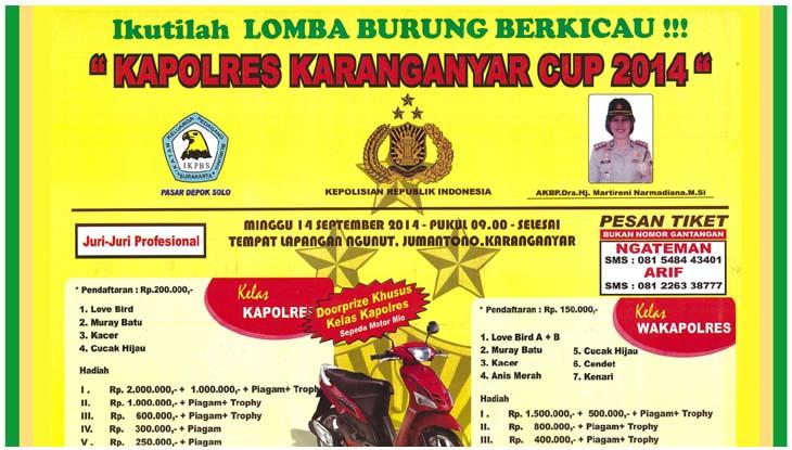 feat Kapolres Karanganyar Cup
