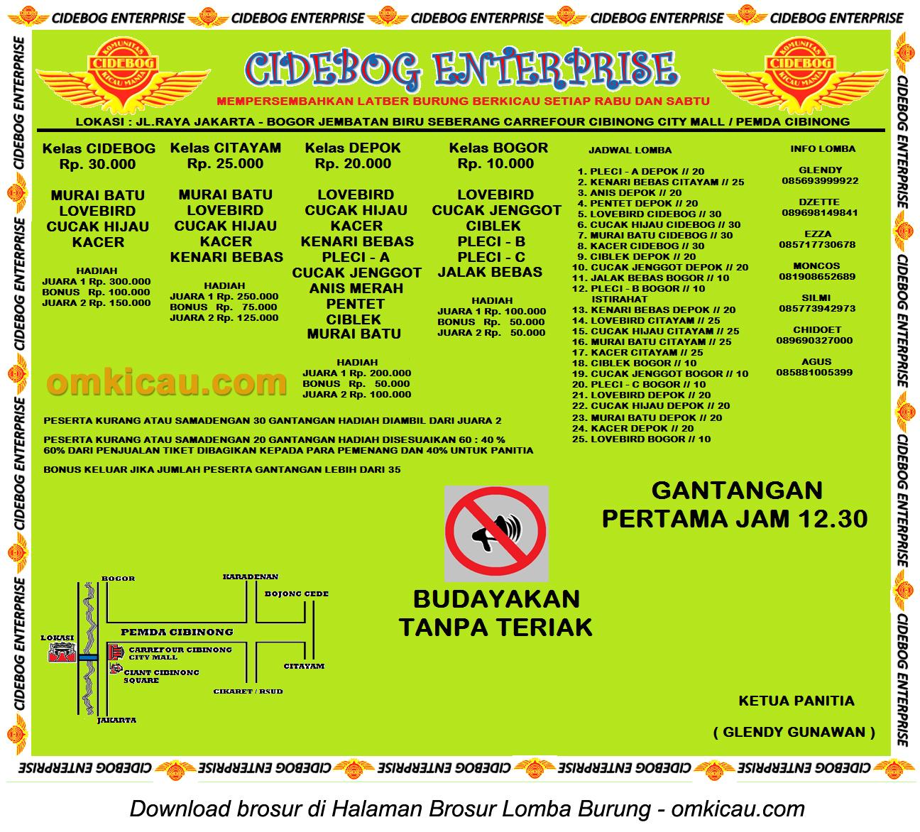 Latber Cibedog Enterprise Cibinong - setiap Rabu dan Sabtu
