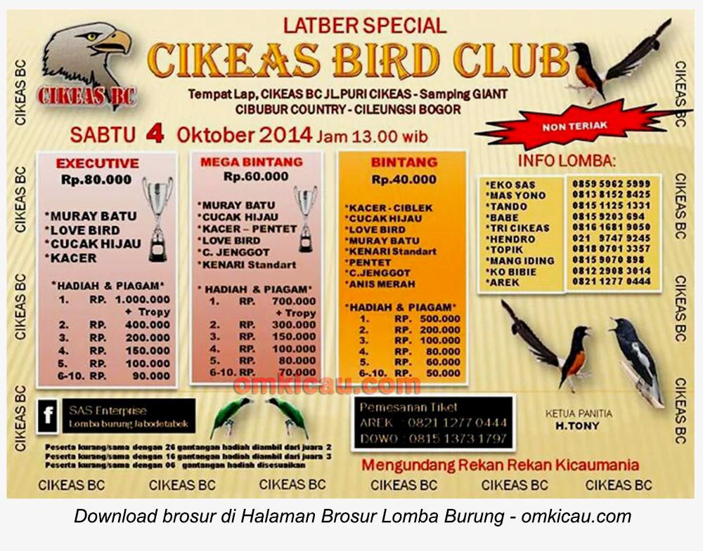 Brosur Latber Spesial Cikeas BC, Bogor, 4 Oktober 2014