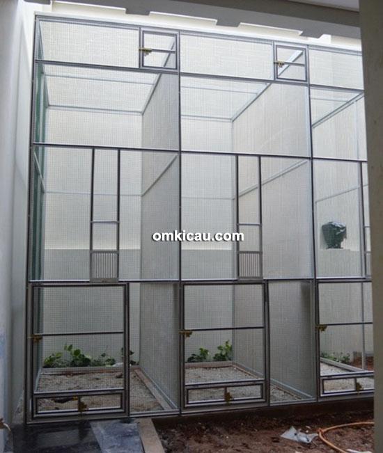 Kandang ternak murai batu model 3 pintu