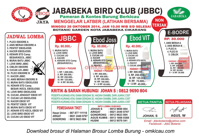 Brosur Latber Jababeka BC, Bekasi, 26 Oktober 2014