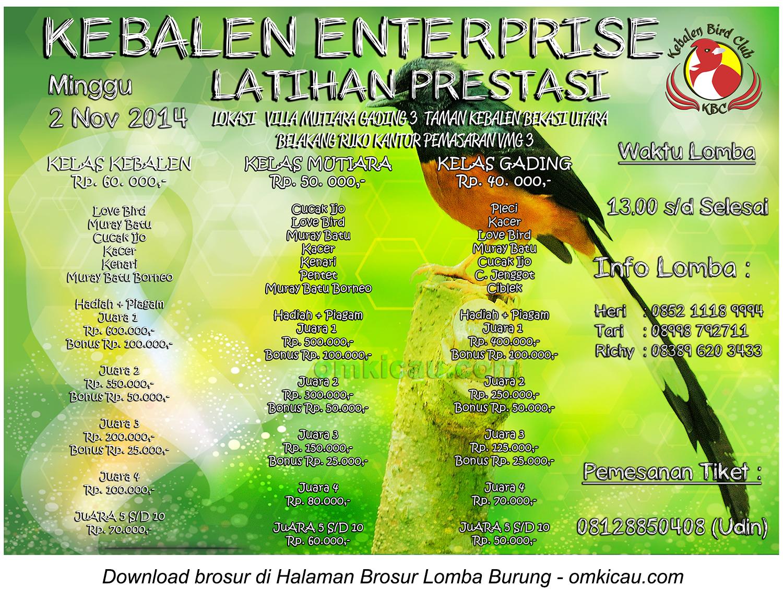 Brosur Latpres Kebalen Enterprise, Bekasi Utara, 2 November 2014