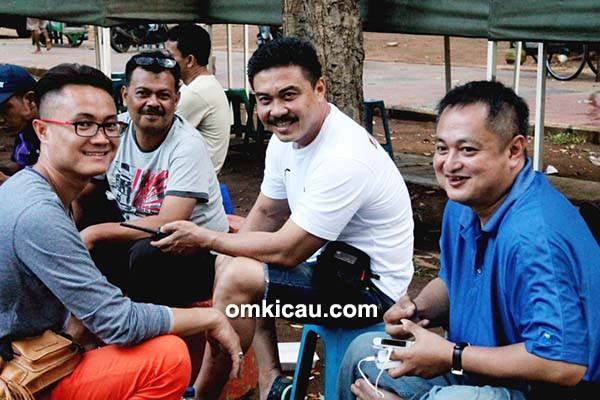 Dari kiri – Jimmy DS, Hary Royal, dr Mulyana dan Andre SAS
