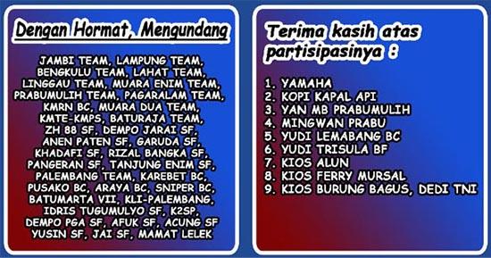 undangan Final Liga KMPS