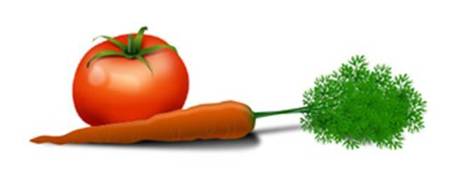 Tomat dan wortel baik untuk pleci
