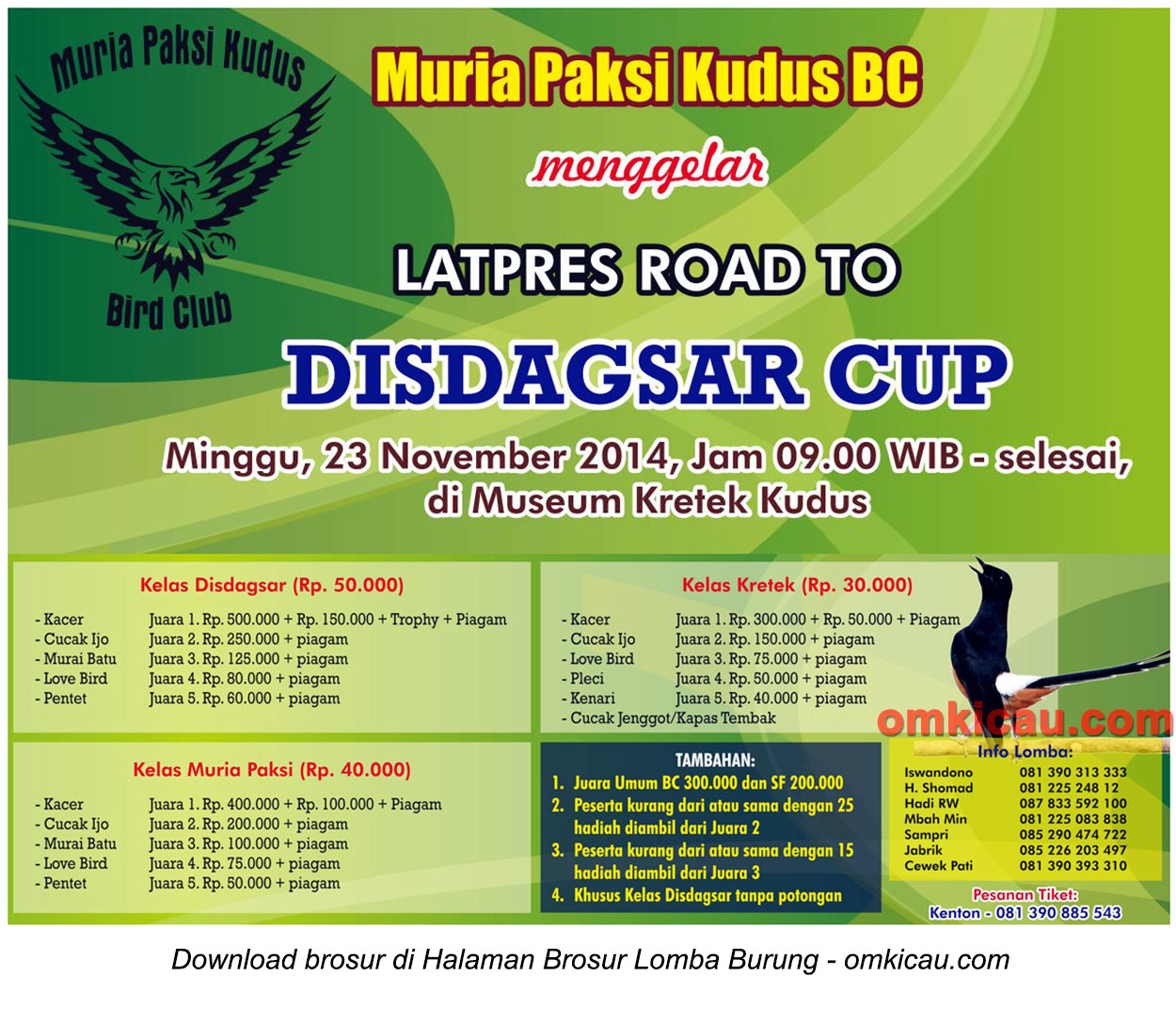 Brosur Latpres Road to Disdagsar Cup, Kudus, 23 November 2014