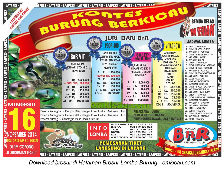 Brosur Latpres Spesial BnR Garut, 16 November 2014
