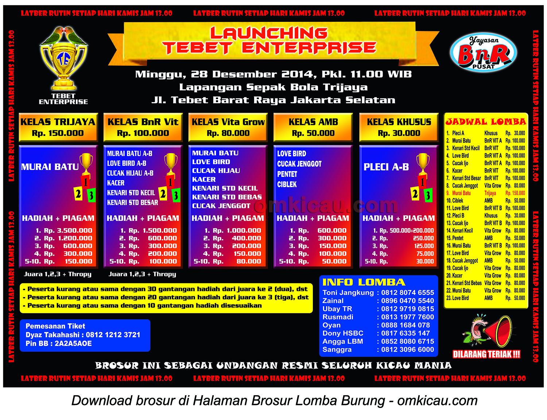 Brosur Launching Tebet Enterprise, Jakarta Selatan, 28 Desember 2014