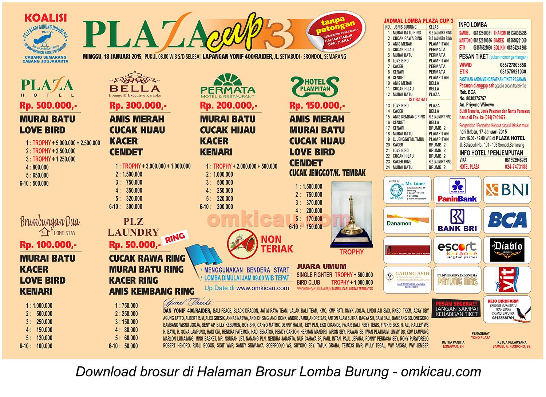 Brosur Plaza Cup 3 - Semarang 18 Januari 2015