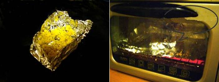 dibungkus alumunium foil lalu dipanggang