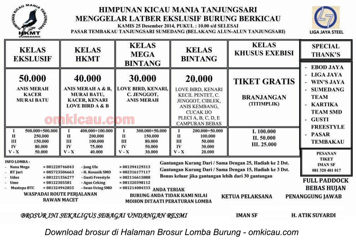 Brosur Latber Eksklusif Himpunan Kicaumania Tanjungsari, Sumedang, 25 Desember 2014